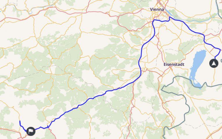 Route zur IRFC 2019 am 27.07.2019